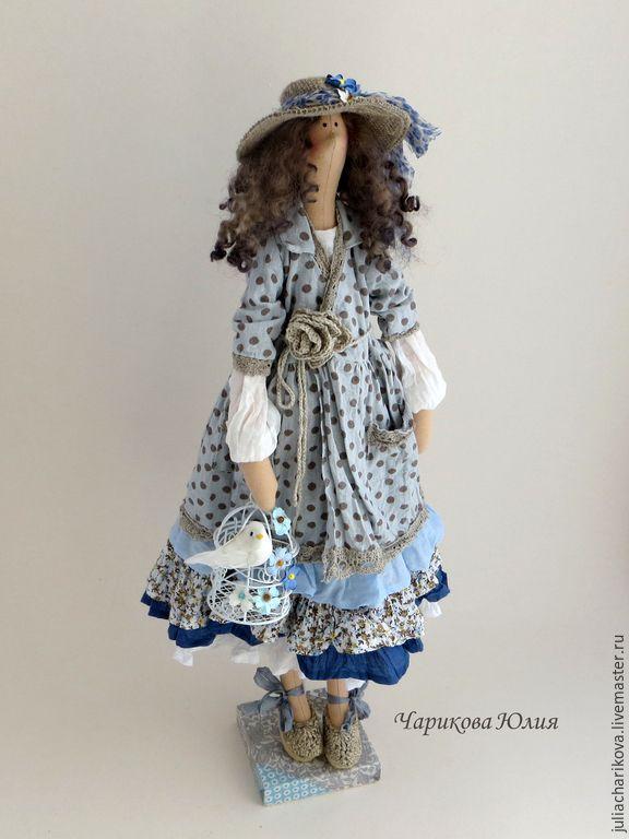 Купить ГДЕ (голубой) - голубой, тильда, тильда кукла, бохо, бохо-стиль, ручная работа ☆