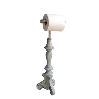 Hickory Manor House Free Standing Classic Toilet Paper Holder & Reviews | Wayfair