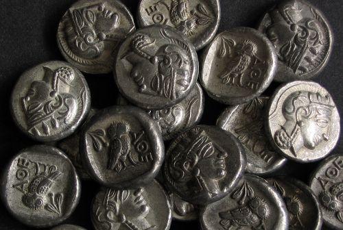 Athens Drachm Greece 5th century BC tin replica coin | Antiquanova