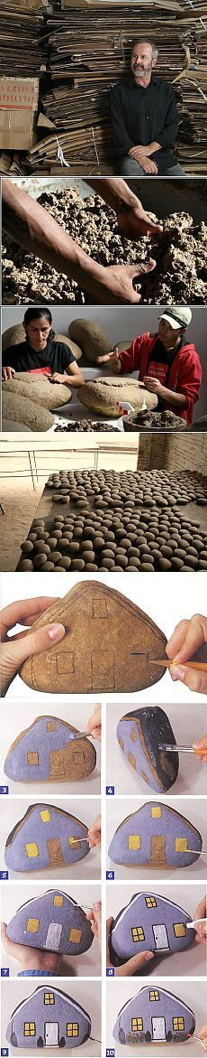 Делаем камни из картона | Эфария