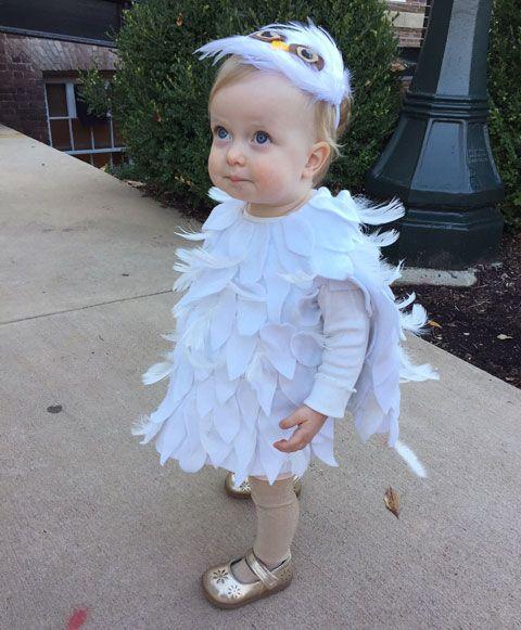 crozette hedwig baby owl no sew diy costume - Baby Owl Halloween Costumes