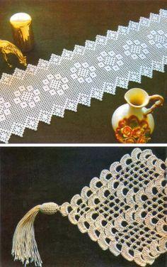 Crochet: tablecloth para Werika