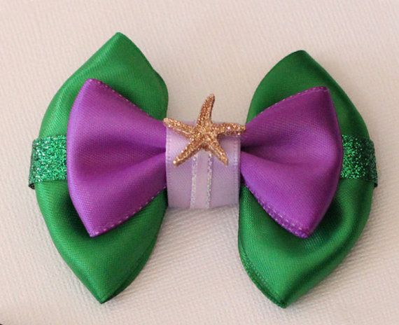 Ariel The Little Mermaid Inspired Bow by SmallWorldBows on Etsy, $8.50