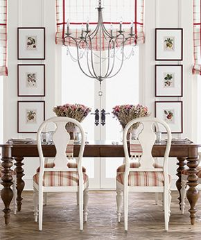 From Ethanallen.com · Beautiful Dining Room... Perfect Chandelier... The  Pictures Frame The Window