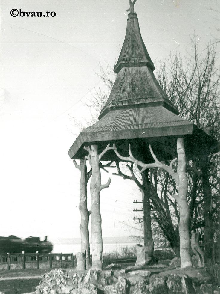 """Galați : Bătrânul foișor uitat (parcul C.F.R.) / Năstase Marin .- Galaţi, 1970. Imagine din colecțiile Bibliotecii """"V.A. Urechia"""" Galați."""