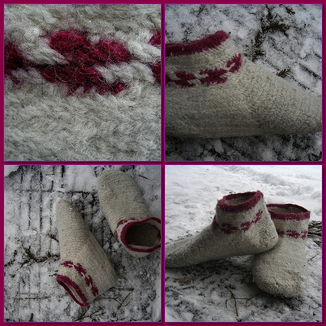 Nalbinding socks by AnnaKika, via Flickr
