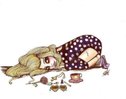 Lazy Girl Drawing Tumblr