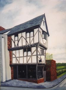 The House that Moved, Exeter, England  Painting by R. Ross
