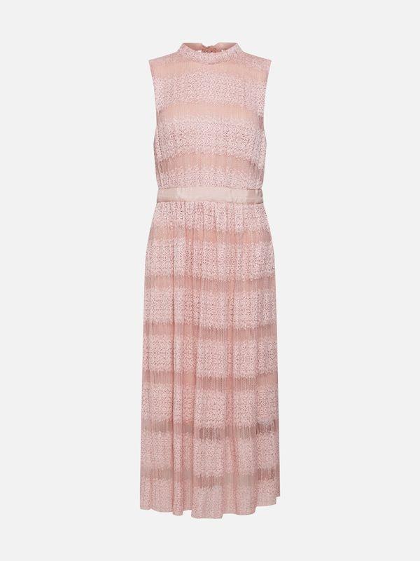 vila kleid vilacina s l midi dress za in rosa midikleider
