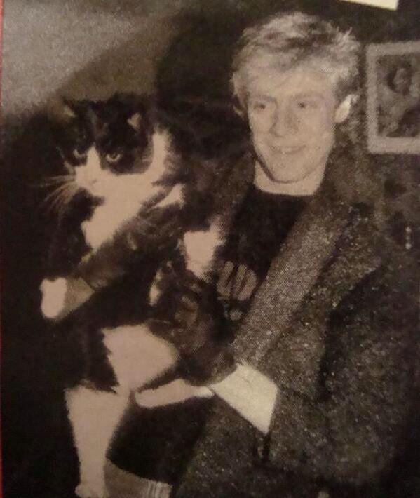 Bryan holding a cat