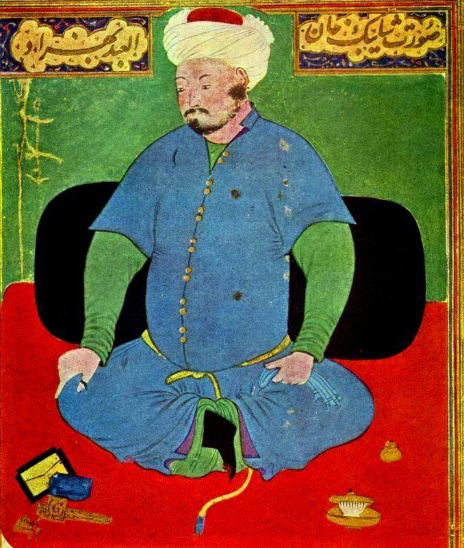 1501: Muhammad Shaybani defeats Babur at Samarkand. Painting by Kamaledin Behzad