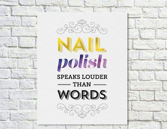 BUY 2 GET 1 FREE Nail Polish Poster Nail Polish Quote