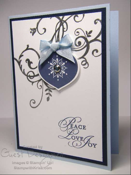 Something like this could be done with Flowering Flourishes and one of the new ornament dies and coordinating stamps!!!
