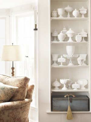 Total Milk Glass Swoon! Country Living Magazine