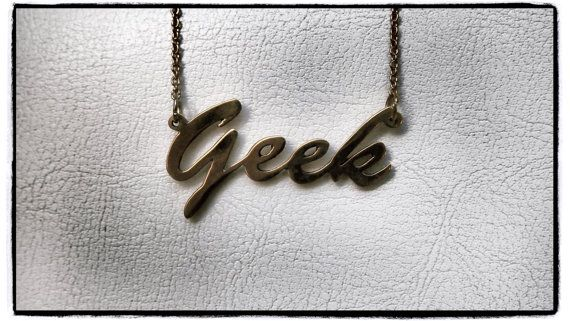 """Geek necklace on 16 chain....When 16"""" sounds like normal.."""