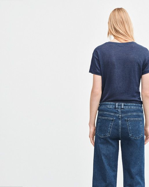Linen T-shirt Bright Navy - Latest Arrivals - Shop Woman - Filippa K