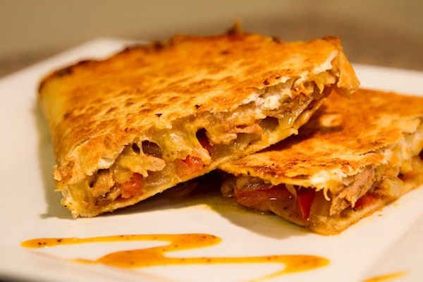 BBQ Pulled Pork Quesadillas- leftovers from pulled pork sandwiches