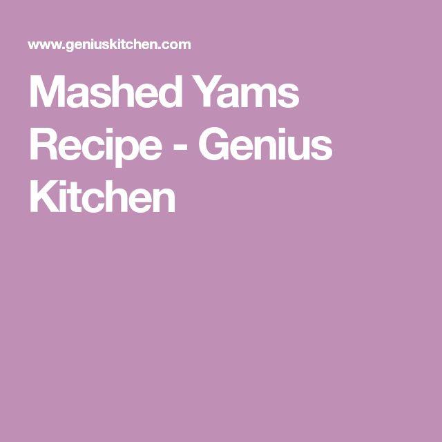 Mashed Yams Recipe - Genius Kitchen
