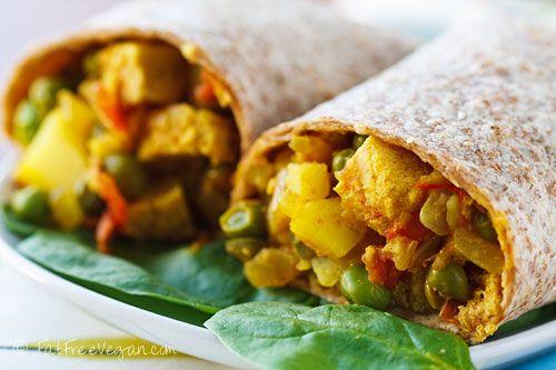 E's Samosa Wraps- a copycat of my favorite Amy's Kitchen Samosa Wraps!! Gotta try for sure.