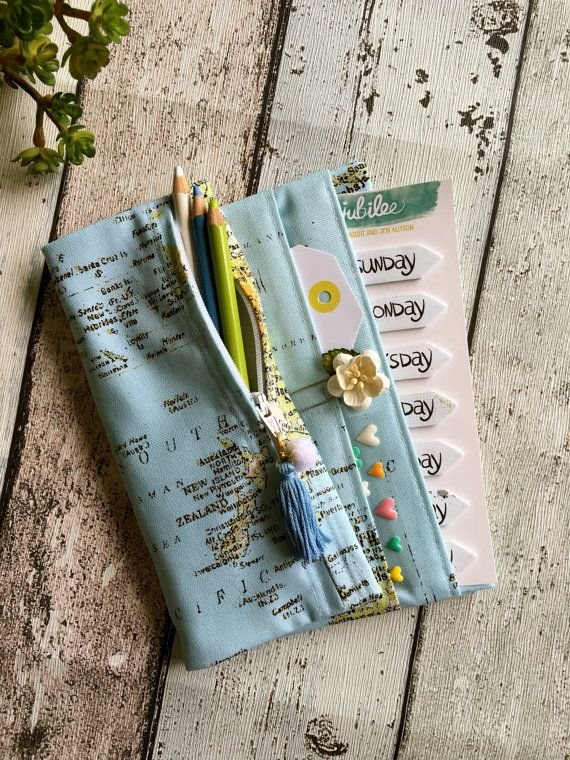 Fold over pencil case and pocket pouch for by MadeByNinnyNoo