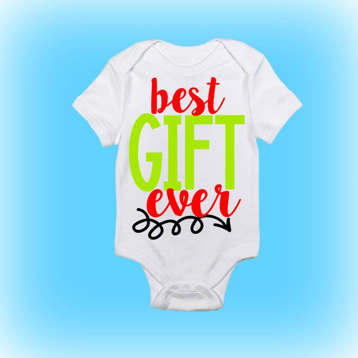 This Best Gift Ever Baby Onesie will keep your baby as snug as a bug in this soft 100% cotton Gerber Onesie®. This bodysuit can be machine-washed and dried! The bodysuit also features a reinforced three-snap closure as well as double-stitched hems on neck, shoulders, sleeves and leg openings for extra comfort for the little one. These baby bodysuits make a great gift for a baby shower or new baby.  Bodysuit sizes: Newborn 0-3 months 3-6 months 6-9 months 12 months 18 months 24 months