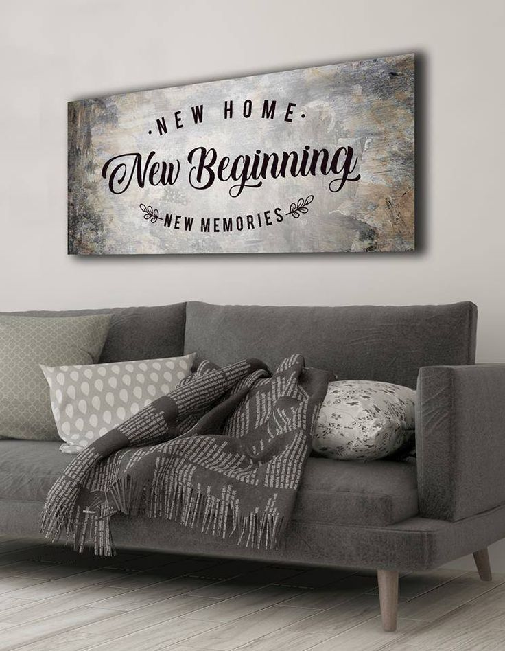 Home Wall Art New Home New Beginning Wood Frame Ready To Hang Home Decor Wall Art Family Wall Art Small House Interior Design