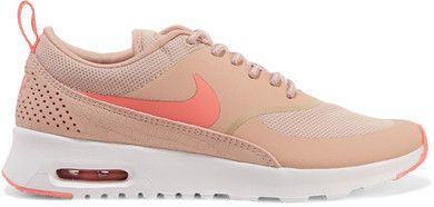 Nike - Air Max Thea Embossed Leather And Mesh Sneakers - Pink