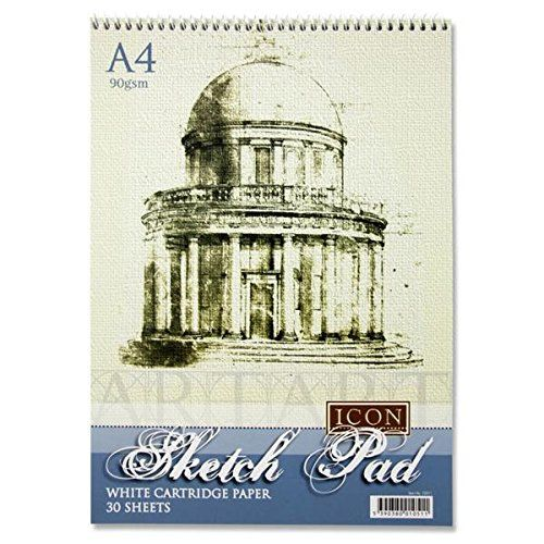 From 4.01:Icon A4 90gsm Spiral Sketch Pad 30 Sheets [10 Pack]