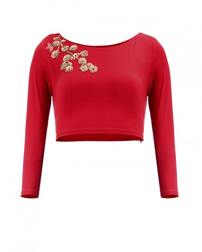Red Gold Blossom Top | SHOP NOW ON : http://bit.ly/NamrataJoshipura_shop