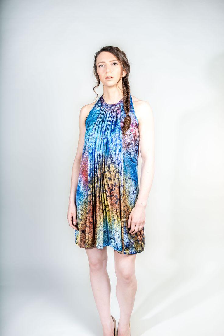 Blue Halterneck Dress #spring #summer fashion perfect special occasion dress  #Blue #Halterneck #Dress #WantHerDress