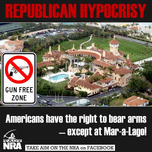 Let's start a movement to arm the Mar-A-Lago staffers to protect the rich hypocrites during their stay. I'm sure they'll feel safe knowing the maids, wait staff, & caddies are packing heat.