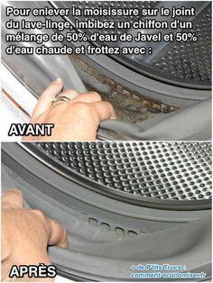 Comment nettoyer les moisissures des joints en caoutchouc de la machine à laver ?