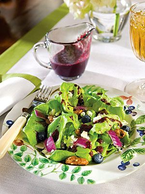 Blueberry Vinaigrette minus the sugar..doesn't need it. It's nice and sweet without it. I used sweet, fresh blueberries. Very easy. Yum's the word.