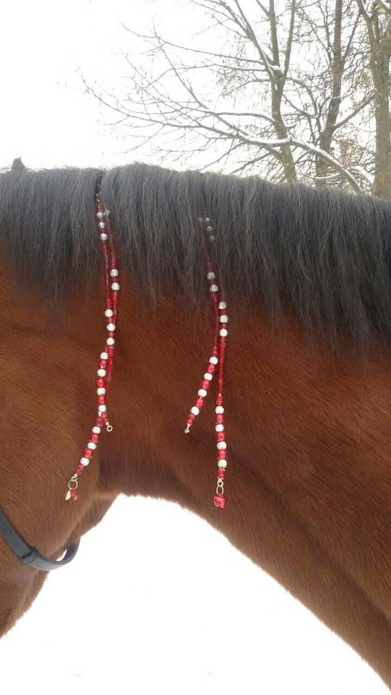 Valentine's day Rhythm beads horse ornament tack bling