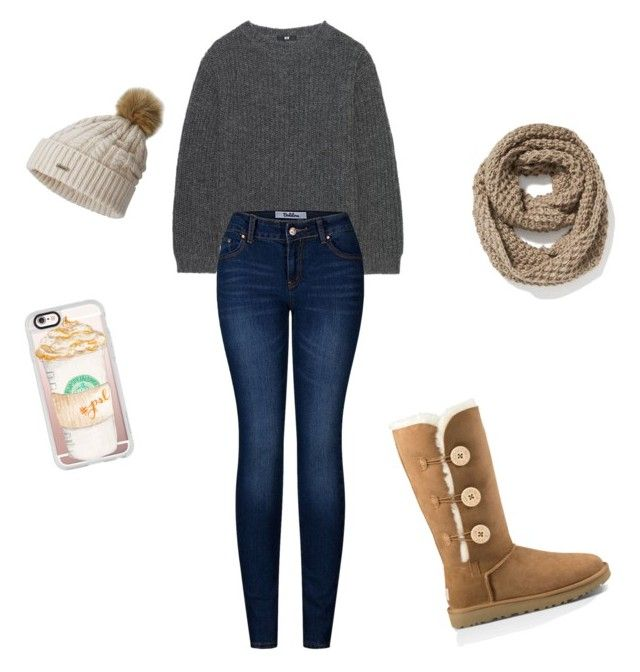 """Winter outfit"" by julie-snyder-i on Polyvore featuring Uniqlo, 2LUV, SOREL, Old Navy, Casetify and UGG Australia"