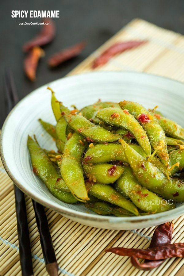 Spicy Edamame スパイシー枝豆   Easy Japanese Recipes at JustOneCookbook.com