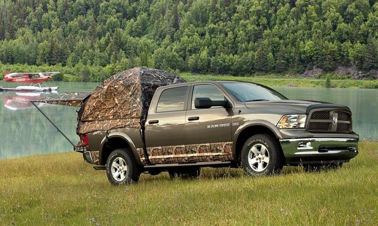 Napier Camo Truck Camping Tent on the new Ram Outdoorsman I NEED THIS