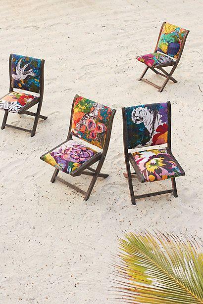 Overdyed Terai Folding Chair - anthropologie.com