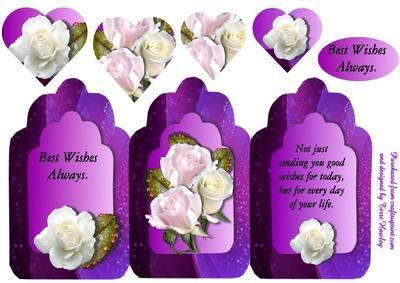 3 arches purple best wishes on Craftsuprint - Add To Basket!