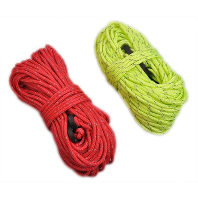 Camping Tent Tarp Reflective Guyline Rope Runners Guy Line Paracord Red