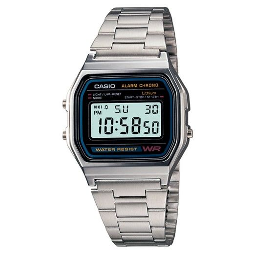 $16  Men's Casio Digital Bracelet Watch - Silver (A158W-1)