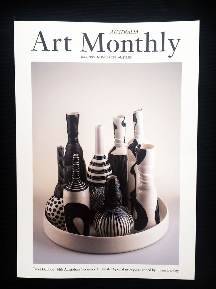 Loving the black and white feel of this mag // Art Monthly // July Issue