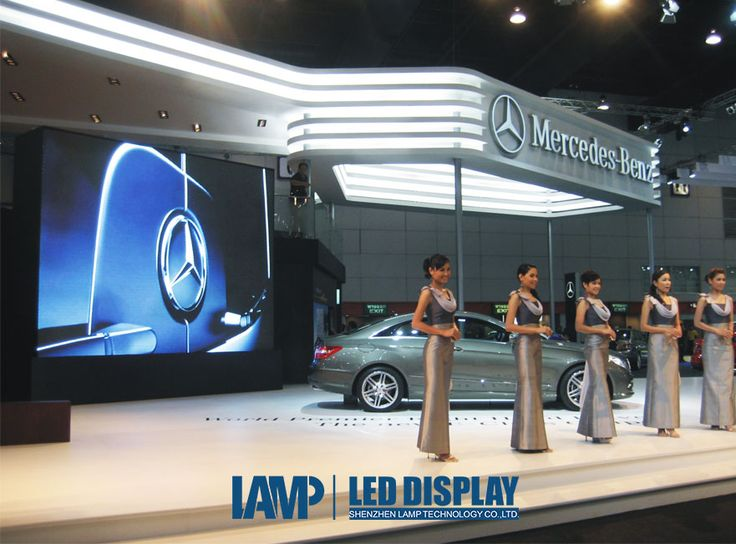 Mercedes-Benz car show in Thailand, drive your dream! Lamp tech exhibition screen, display a better world for all!