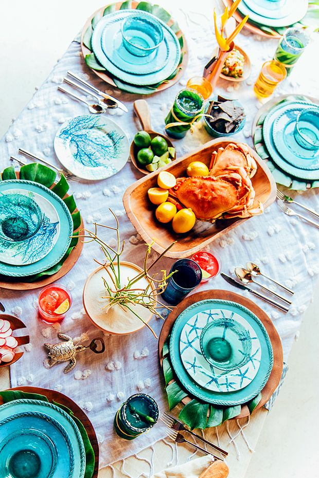 Tropical Tabletop with Pottery Barn | Justina Blakeney