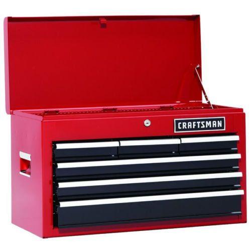 Toolbox Craftsman 6 Drawer Chest Storage Tool Box Metal Portable Lock Cabinet #Craftsman