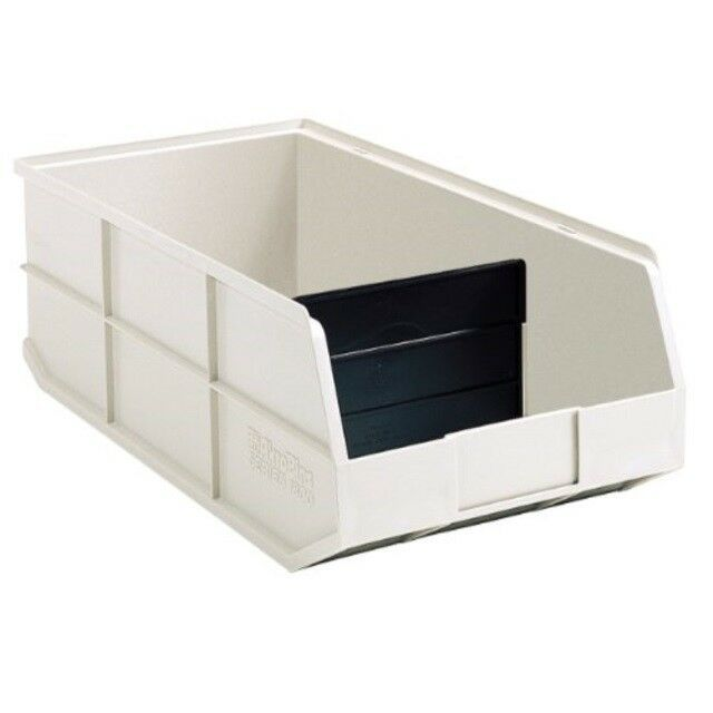 Ebay Sponsored Akro Mils 30348 1800 Series Plastic Stacking Akro Bin 20 1 2 Inch Long By 8 1 Beige Shelves Shelf Bins Closet Storage Systems