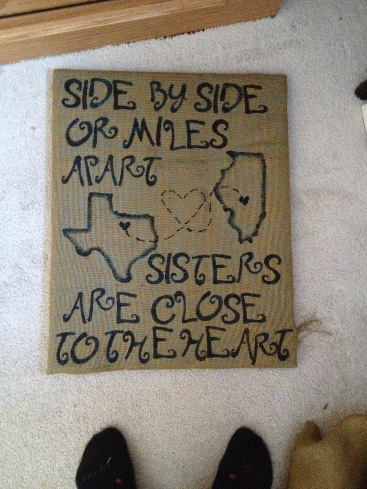 Burlap canvas I made for my sister.