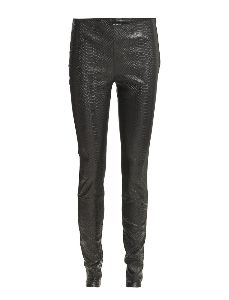 DAY - 2ND Marley Snake Faux snake skin texture Side zip closure Skinny fit Cool Leather leggings Made from luxurious materials Modern Pants Trousers Leggings