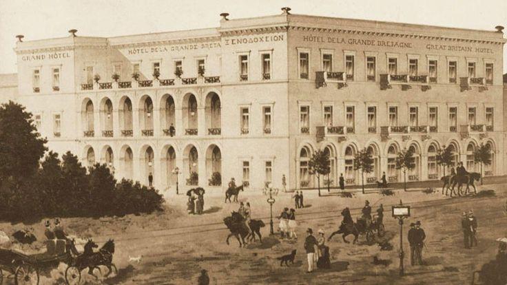 Το ξενοδοχείο ' Μεγάλη Βρετάνια '. (1842). Σχέδια του Theofil Edvard Freiherr…