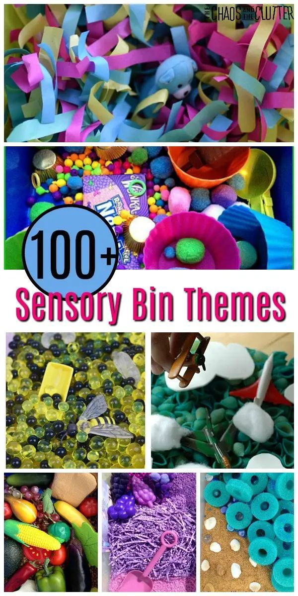 Over 100 Sensory Bin Themes